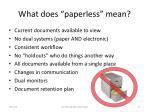 what does paperless mean