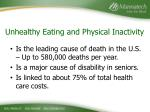 unhealthy eating and physical inactivity