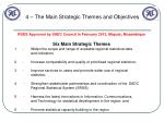 4 the main strategic themes and objectives