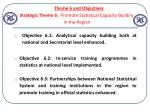 theme 6 and objectives strategic theme 6 promote statistical capacity building in the region