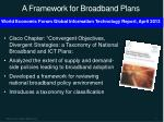 a framework for broadband plans