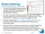 smart metering lowers operational costs by process automation