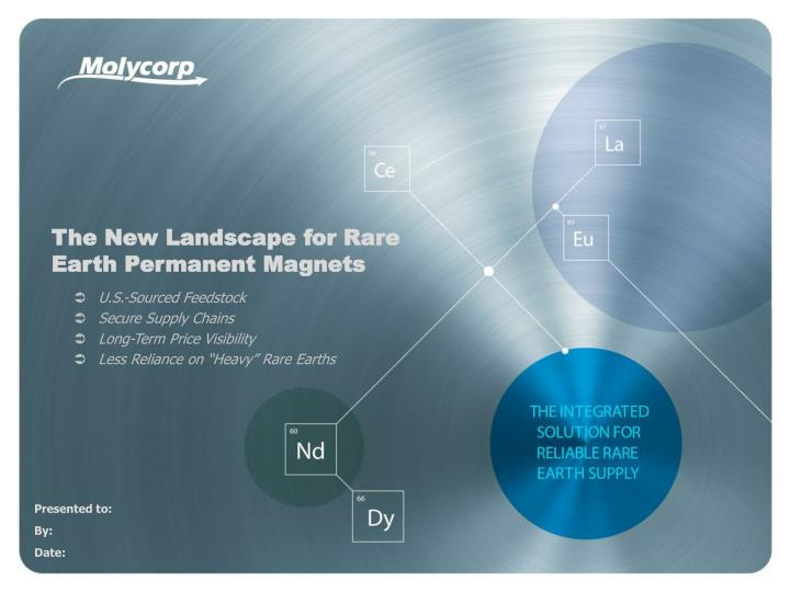 the new landscape for rare earth permanent magnets n.