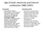 age of steel electricity and internal combustion 1880 1930 s