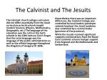 the calvinist and the jesuits