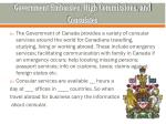 government embassies high commissions and consulates