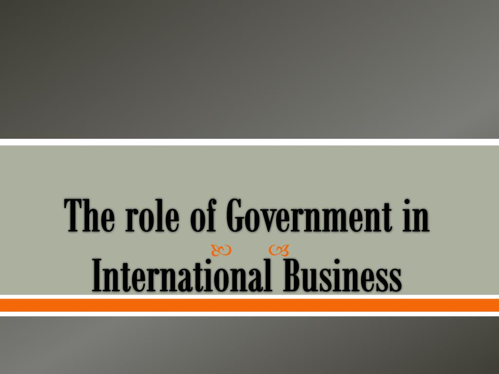 role of the government in business
