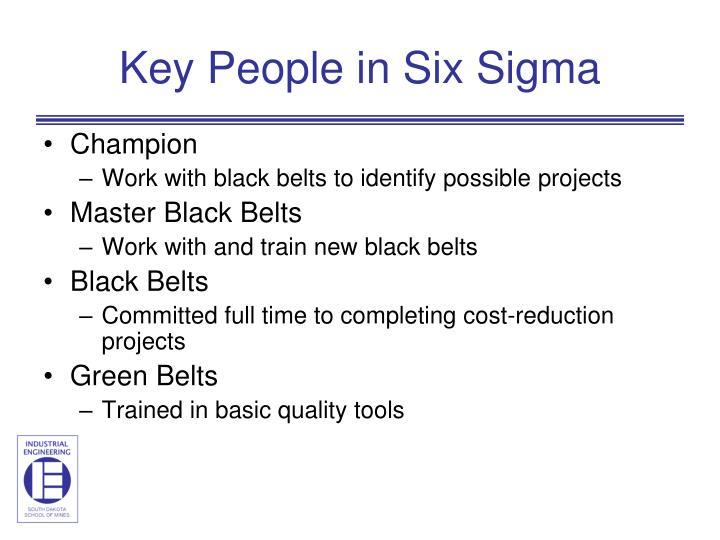 Key People in Six Sigma