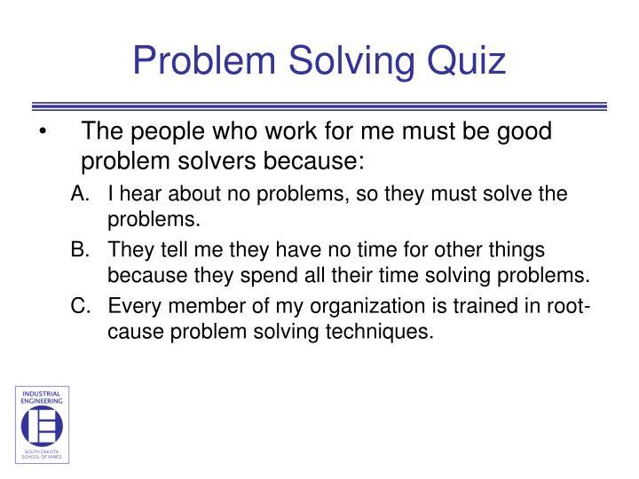 Problem solving quiz1