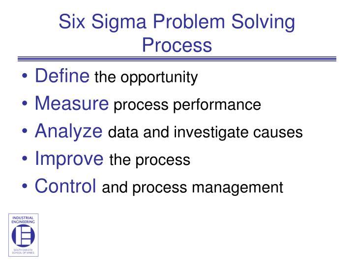 Six Sigma Problem Solving Process