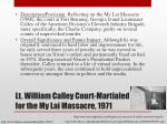 lt william calley court martialed for the my lai massacre 1971
