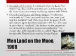 men land on the moon 1969