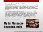 my lai massacre revealed 1969