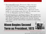 nixon begins second term as president 1973