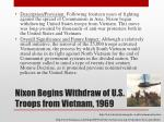 nixon begins withdraw of u s troops from vietnam 1969