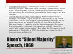 nixon s silent majority speech 1969