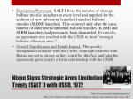 nixon signs strategic arms limitation treaty salt i with ussr 1972
