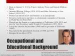 occupational and educational background
