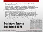 pentagon papers published 1971