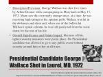 presidential candidate george wallace shot in laurel md 1972