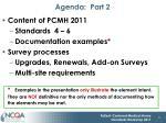 agenda part 2