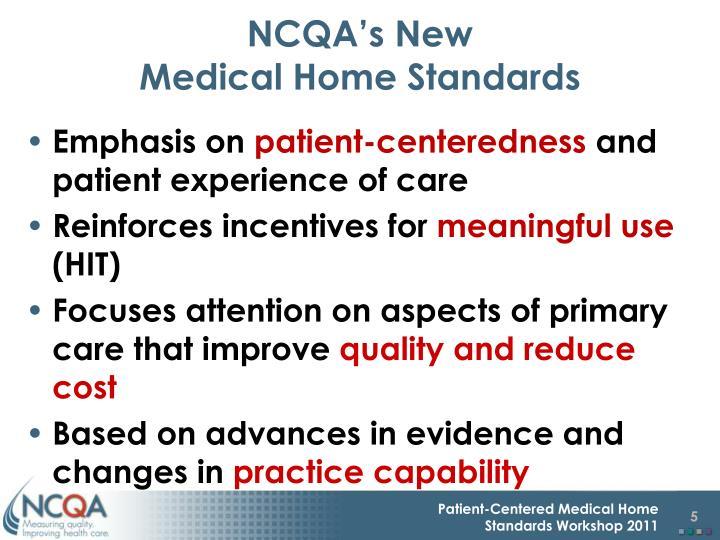 NCQA's New