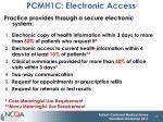 pcmh1c electronic access