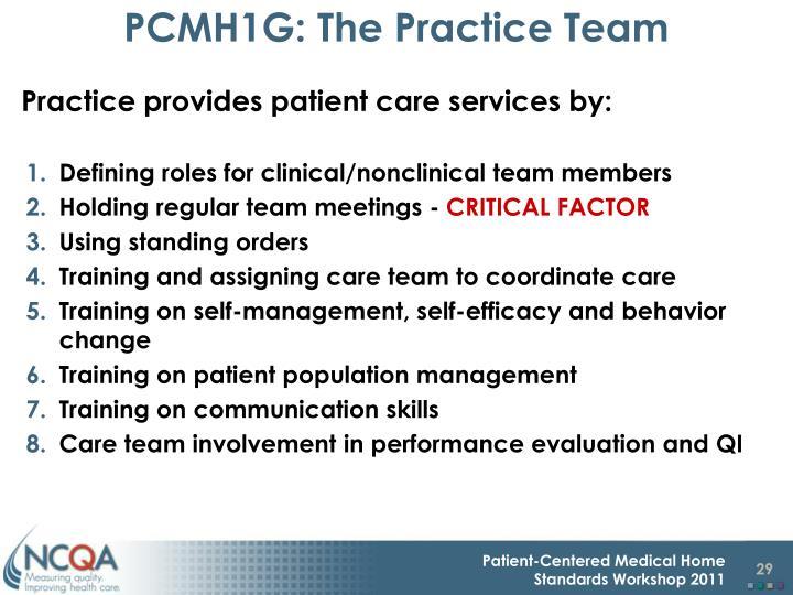PCMH1G: The Practice Team