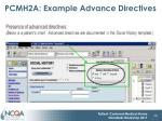 pcmh2a example advance directives