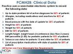 pcmh2b clinical data