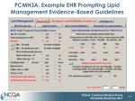 pcmh3a example ehr prompting lipid management evidence based guidelines