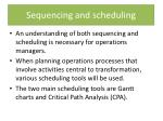 sequencing and scheduling1