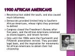 1900 african americans