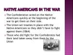 native americans in the war