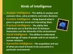kinds of intelligence
