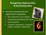recognizing opportunities generating ideas6