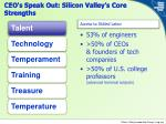 ceo s speak out silicon valley s core strengths1