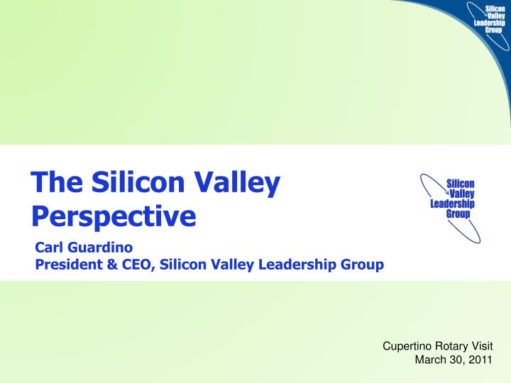the silicon valley perspective n.