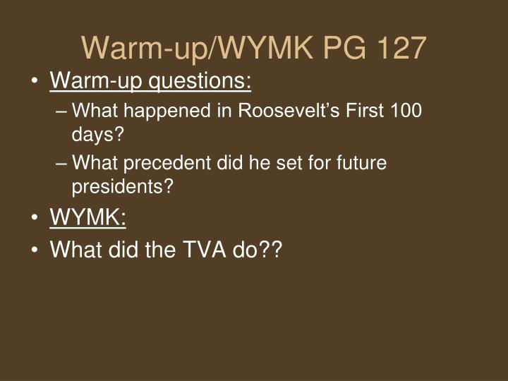 Warm-up/WYMK PG