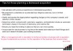 tips for those planning a distressed acquisition