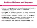 additional software and programs