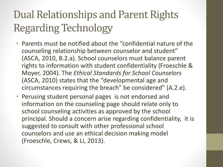 Dual Relationships and Parent Rights