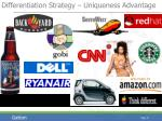 differentiation strategy uniqueness advantage