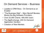 on demand services business