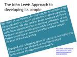 the john lewis approach to developing its people