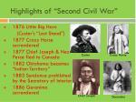 highlights of second civil war