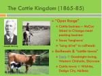 the cattle kingdom 1865 85