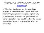 are people taking advantage of welfare
