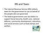 irs and taxes