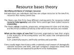 resource bases theory